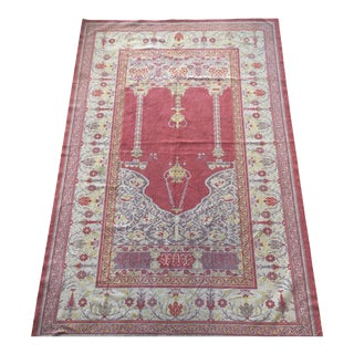 "Vintage Oushak Prayer Rug - 4'1"" x 6'4"""