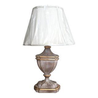 French-Style Cerused Urn Lamp with Shade