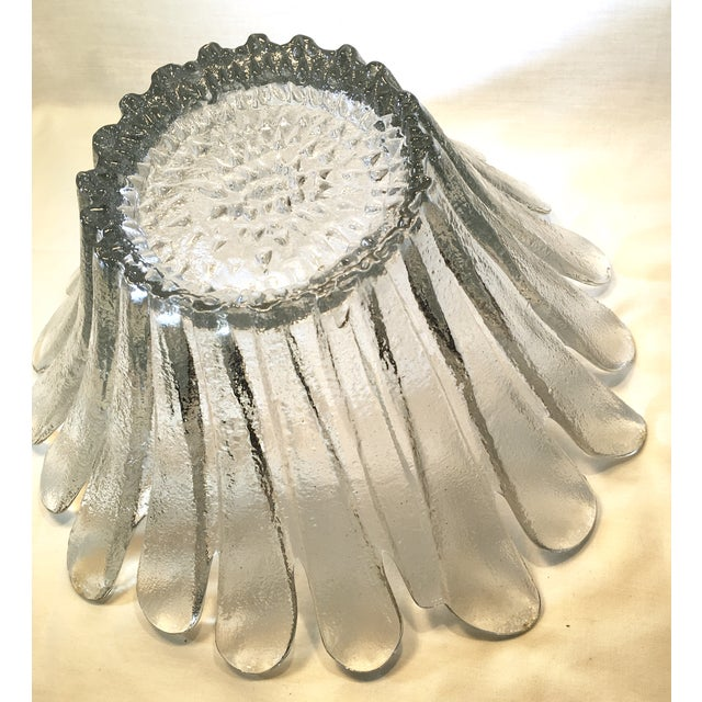 Blenko Floral Shape Textured Glass Bowl - Image 3 of 5