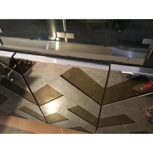 Modern Vintage Ello Chrome, Smoked Glass and Mirror Credenza or Sideboard - Image 6 of 8