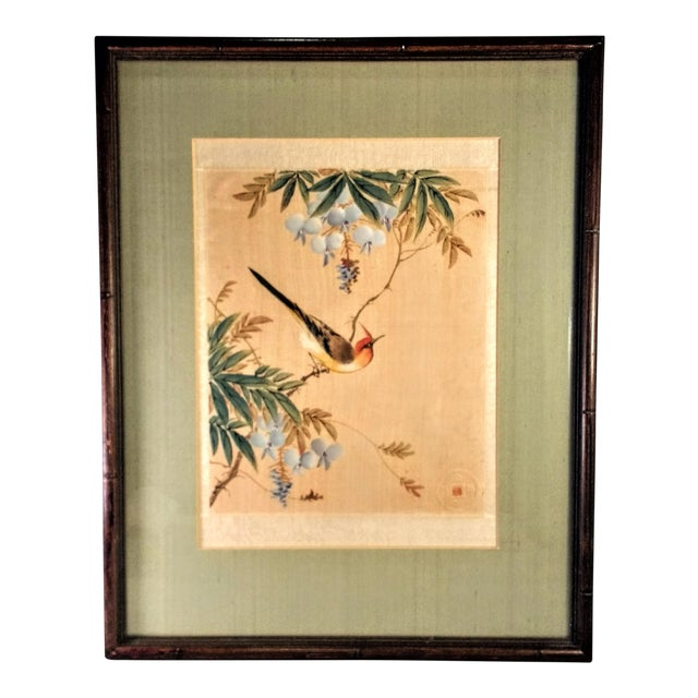Image of Asian Bird in Flowering Tree