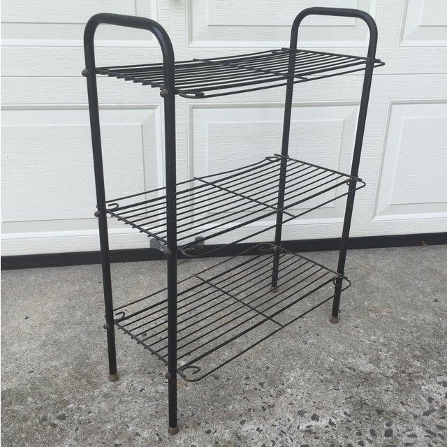 Mid-Century Curved Wire Three Shelf Unit - Image 8 of 12