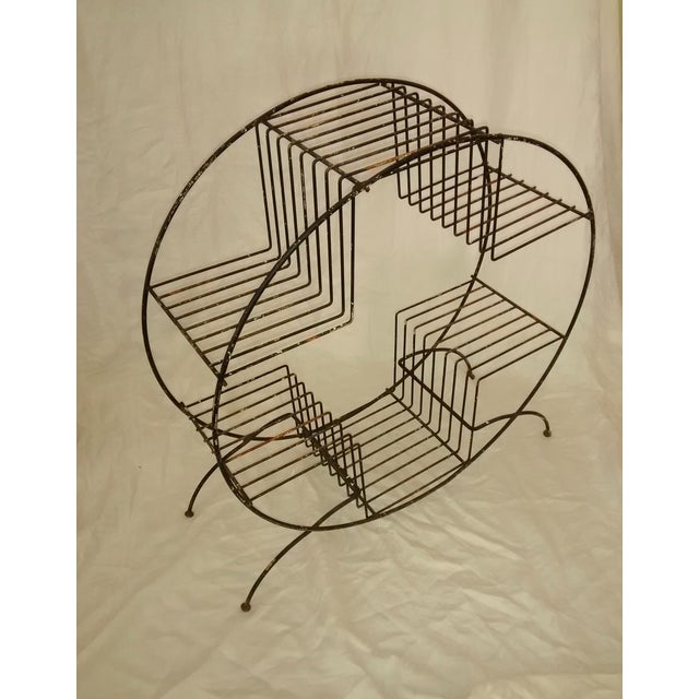 Mid Century Modern Wire Plant Stand Shelf - Image 4 of 8