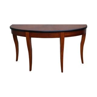 Lane Demilune Biedermeier Style Console Table