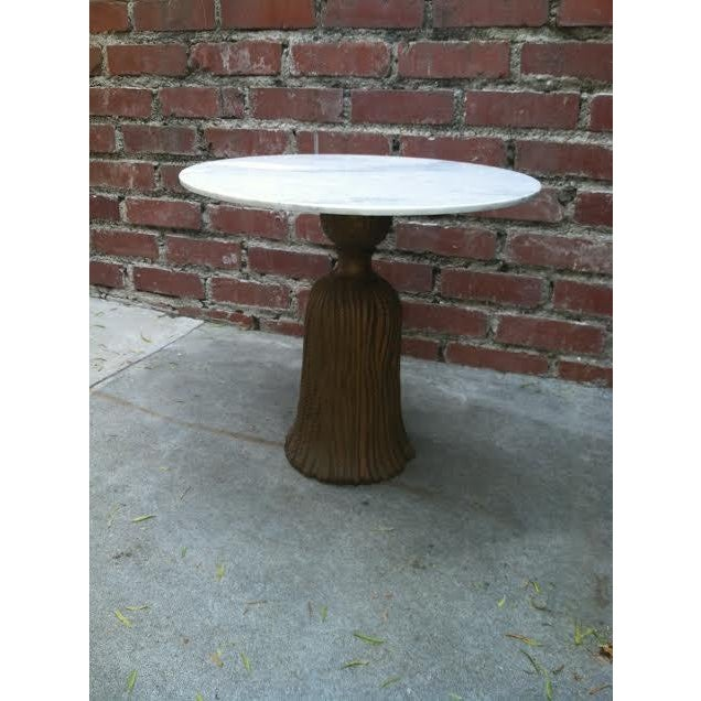 Italian Tassel Table with Marble Top - Image 2 of 5