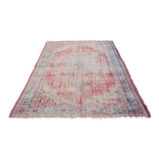 Faded Turkish Floor Carpet - 6′ × 8′7″