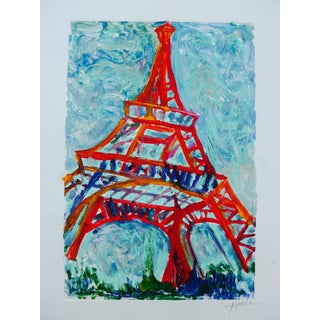 'Eiffel Tower, Paris' Original Monotype