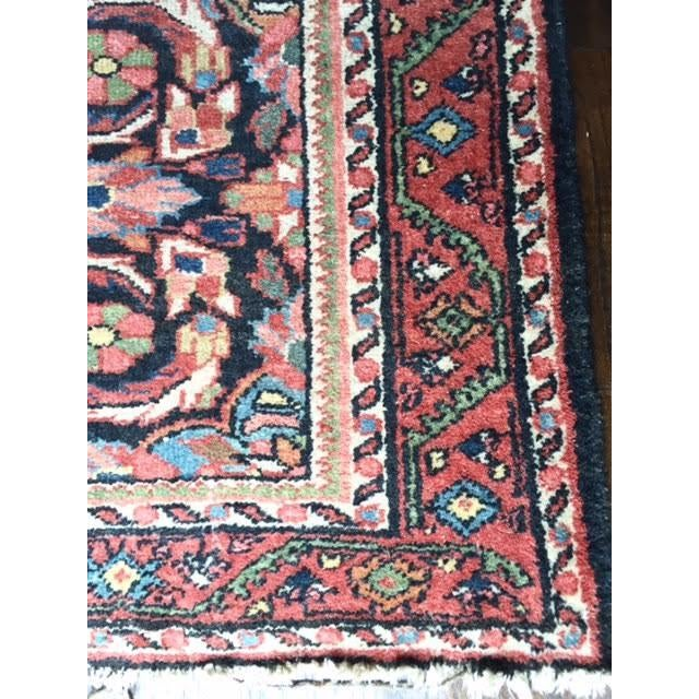 "Image of Vintage Pink & Blue Persian Rug - 4'1"" X 6'4"""