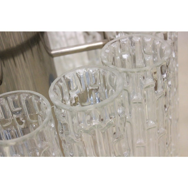 Image of Venini Doria Murano Glass Chandelier