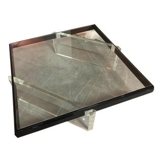 Lucite & Glass Vintage Coffee Table