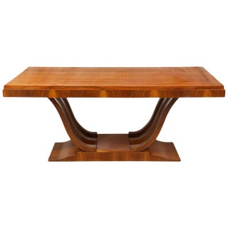 French, Art Deco Wooden Rectangular Extension Dining Table