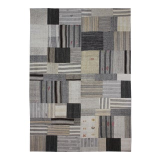 "Hand Knotted Patchwork Kilim by Aara Rugs Inc. - 12'1"" X 8'10"""
