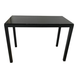 Room & Board Black Steel Bar Height Table
