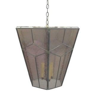 Three Italian Modern Neoclassical Leaded Rose Glass Chandeliers/Lanterns