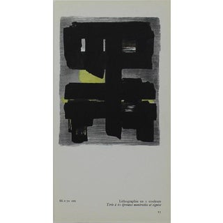 Small Pierre Soulages Pochoir Print