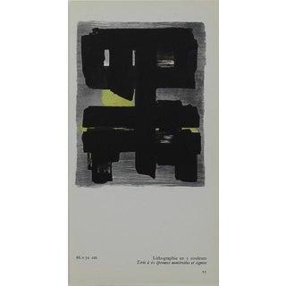 Small Pierre Soulages Pochoir Print