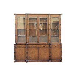 Mid-Century Modern Faux Bamboo Display Cabinet