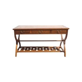 Oriental Crossed Legs Drawer Desk