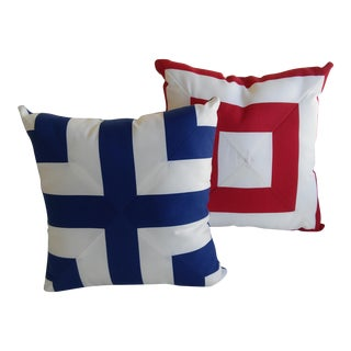 Nautical/ Outdoor Accent Pillows - a Pair