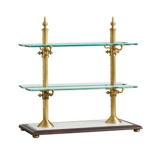 Pastry & Cake Stand Brass Frame with Marble Base