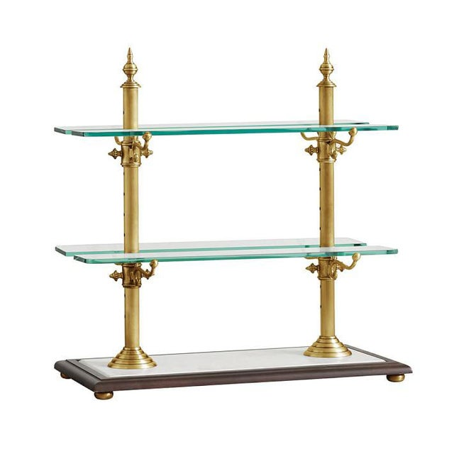 Image of Pastry & Cake Stand Brass Frame with Marble Base