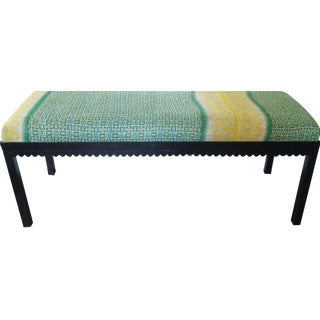 Green & Yellow Floral Bench