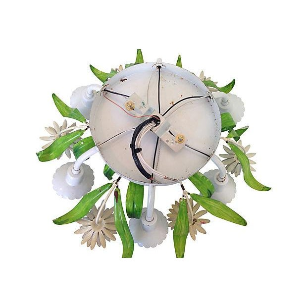 Image of 1950s Italian Floral Ceiling Light