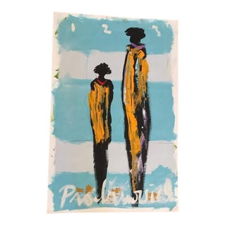 "Vladimir Prodanovich ""African Figure Series 2"" Painting"