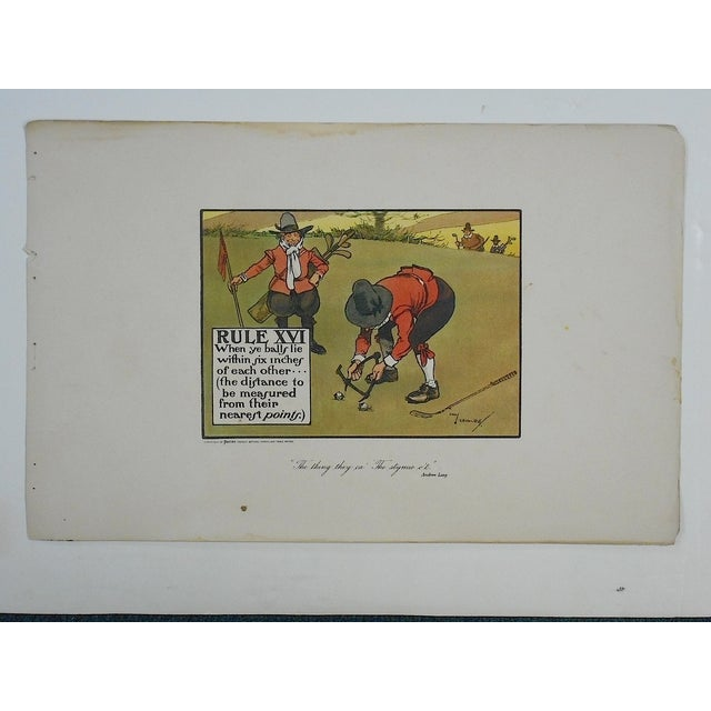 Image of Crombies Rules of Golf Folio Size Lithograph C1905