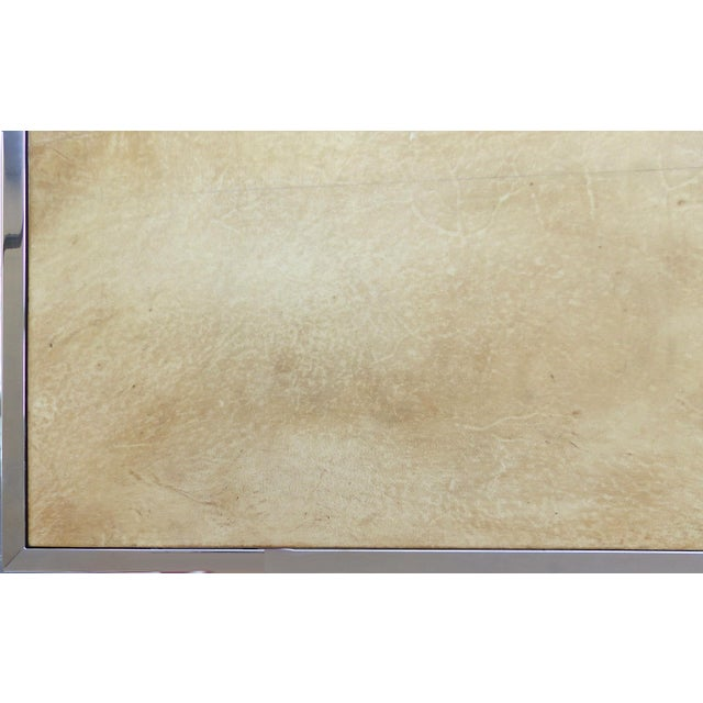 Chrome & Parchment Cocktail Table - Image 7 of 9