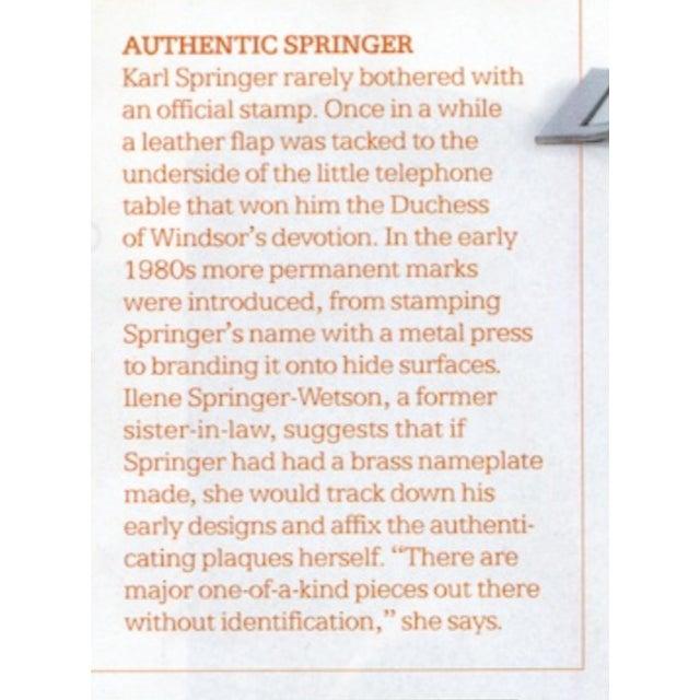 Rare Custom Lamp in the Manner of Karl Springer - Image 9 of 9