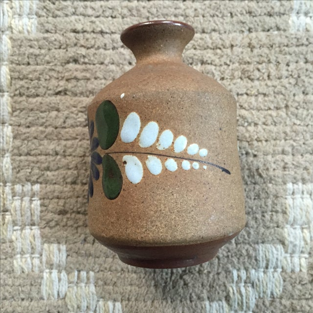 Mexican Hand-Painted Bud Vase - Image 3 of 9