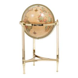 A 1970s Brass Framed Heirloom Globe by Replogle