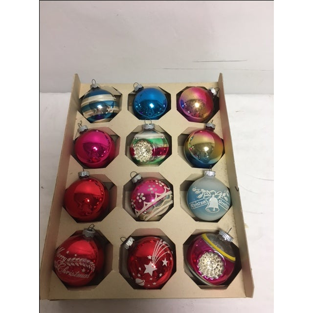 Vintage Glass Christmas Ornaments in Box - Image 3 of 3