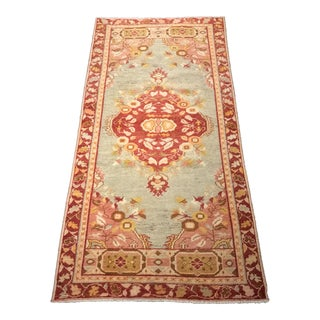 "Bellwether Rugs Soft Pastel Colored Vintage Turkish Oushak Rug - 2'10""x5'9"""