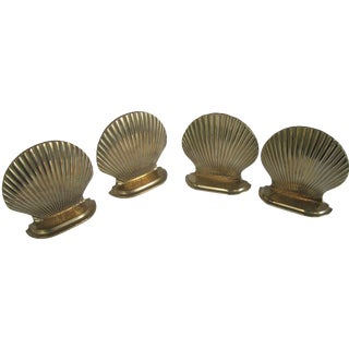 Scallop Bookends - Set of 4