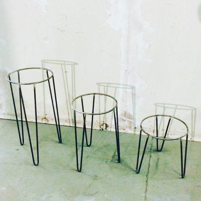 Mid-Century Plant Stands - Set of 3 - Image 2 of 3