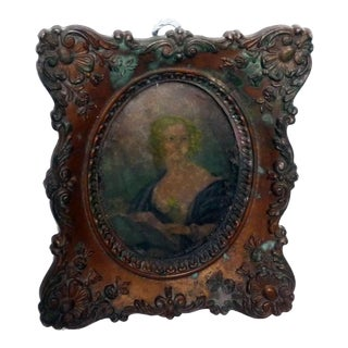 Antique Framed Portrait of Woman
