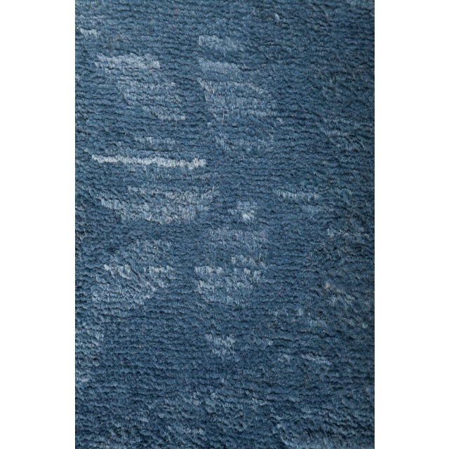 "Blue Over-Dyed Hand-Knotted Rug - 5'2"" X 6'10"" - Image 3 of 3"