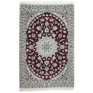 """New Traditional Hand Knotted Area Rug - 3'10"""" x 5'10"""""""