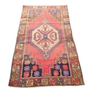 Vintage Anatolian Rug - 3′5″ × 6′4″