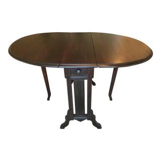 Mahogany Gate Leg Drop Leaf Table