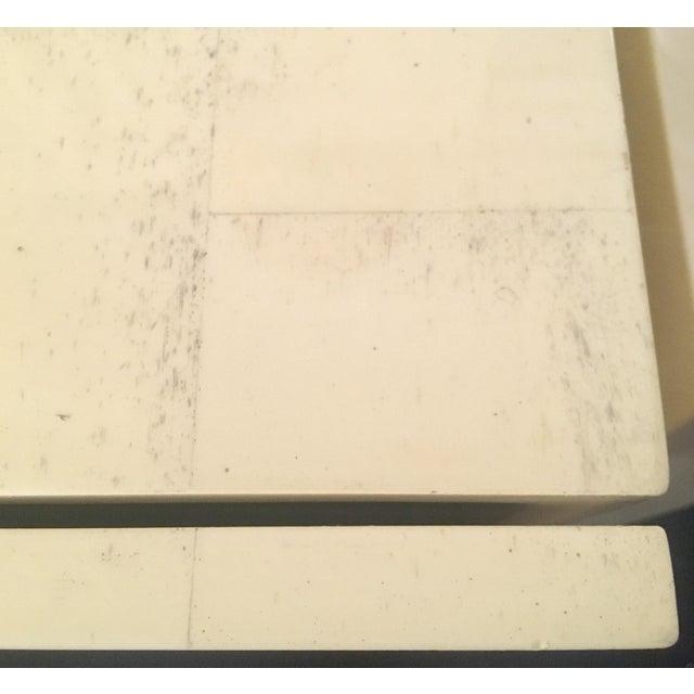 Karl Springer Style Faux Bone Floating Credenza - Image 4 of 11