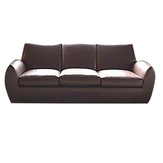 Dakota Jackson Brown Leather Sofa