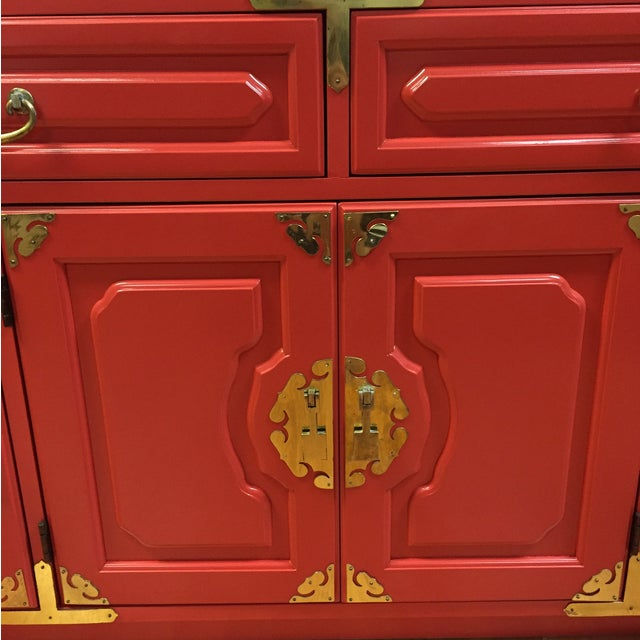 Bernhardt Million Dollar Red Buffet - Image 3 of 4