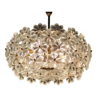 Ernst Palme Floral Glass Sputnik Chandelier