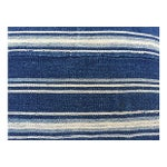 Image of African Indigo Striped Pillows - a Pair