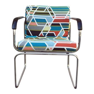Mid-Century Chrome Chair Circa 1960s