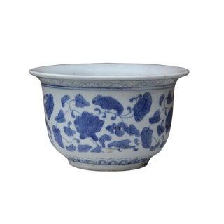 Blue & White Chinese Porcelain Flower Planter Pot
