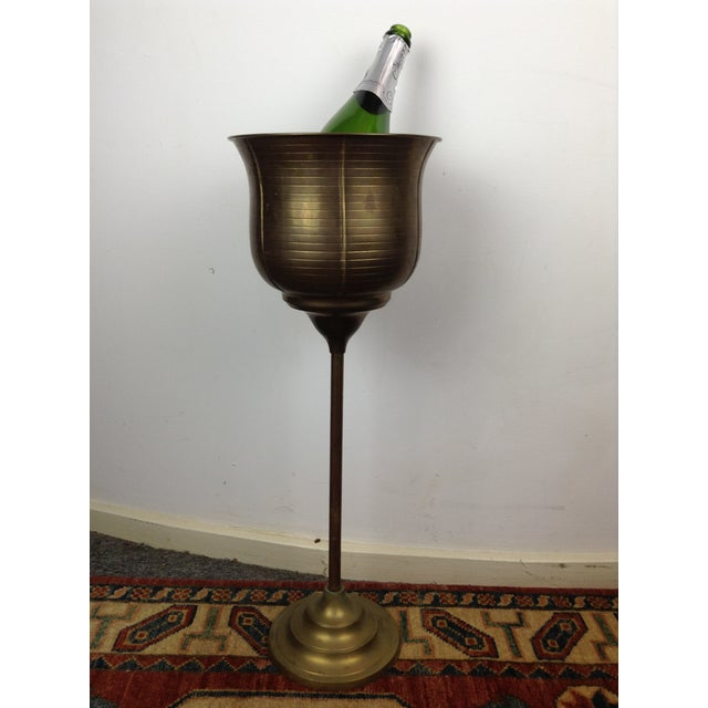 Image of Standing Brass Champagne Bucket